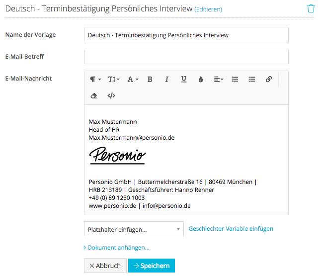 Wie versende ich Emails mit HTML-formatierten Inhalten? – Personio